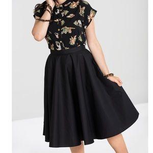 Hell Bunny Vixen 50's Retro Style Circle Skirt NWT